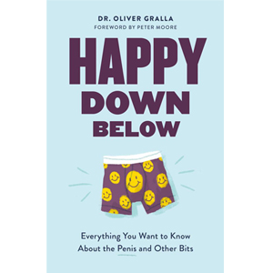 Book cover of Happy Down Below by Dr. Oliver Gralla