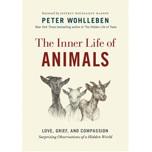 Book cover of The Inner Life of Animals by Peter Wohlleben