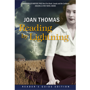 Book cover of Reading by Lightning by Joan Thomas