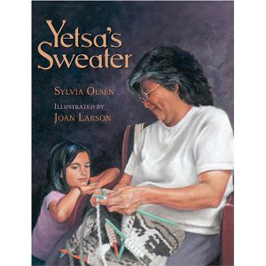 Book cover of Yetsa's Sweater by Sylvia Olsen