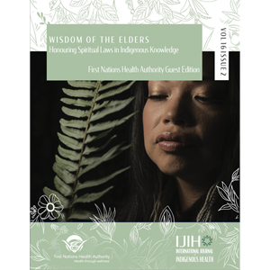 Cover of special issue of the International Journal of Indigenous Health